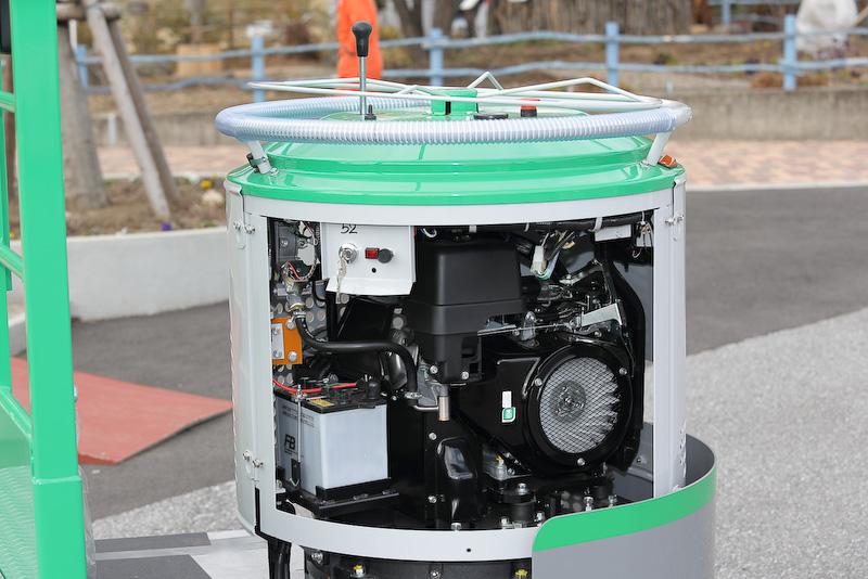 汎用エンジン「GX390」をベースに特殊な動弁系等を持つCNG(圧縮天然ガス)仕様
