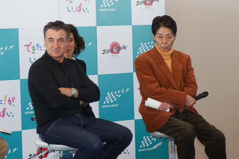 ジャン・アレジ氏(左)と今宮純氏(右)