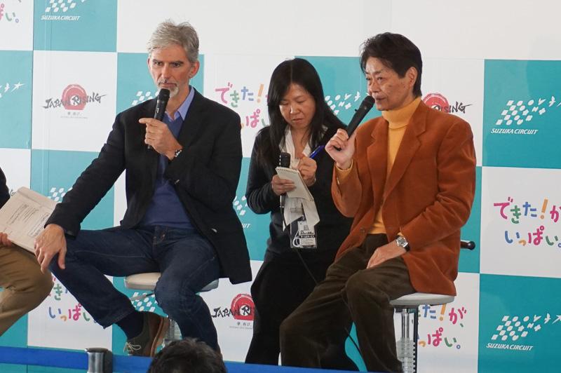 デーモン・ヒル氏(左)と今宮純氏(右)
