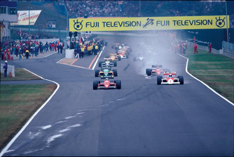 F1日本グランプリ(1987年、上)とWGP(1989年、下)の様子