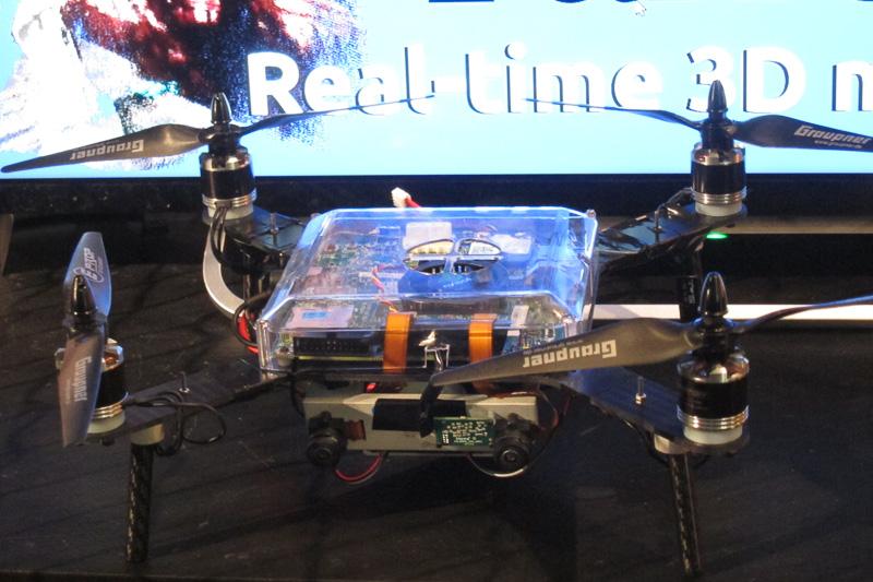 パロットのドローンを使った3Dリアルタイムマッピングシステム