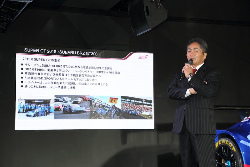 毎年恒例になった東京オートサロンでの参戦発表には、その関心の高さをうかがえるように多くの報道陣が集まった