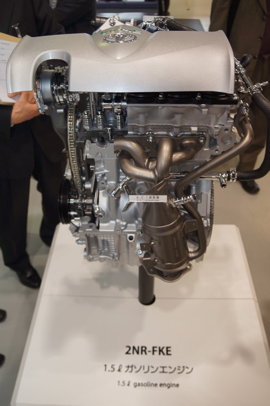 高熱効率38%を実現した2NR-FKEエンジン