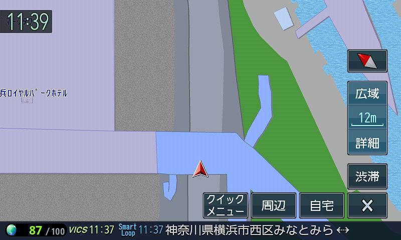 100mスケール未満の10m~80mスケールまで。広域、詳細ボタンだけでなくピンチイン/アウトでも縮尺が変えられるため細かくスケールが用意されている