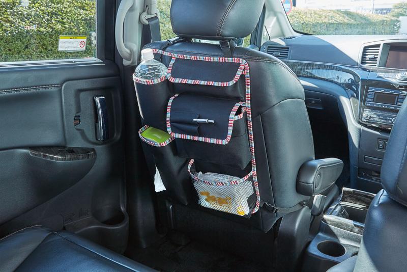 「シートポケット」はドライブシーンで必要なものを収納できる多機能タイプ(3980円)