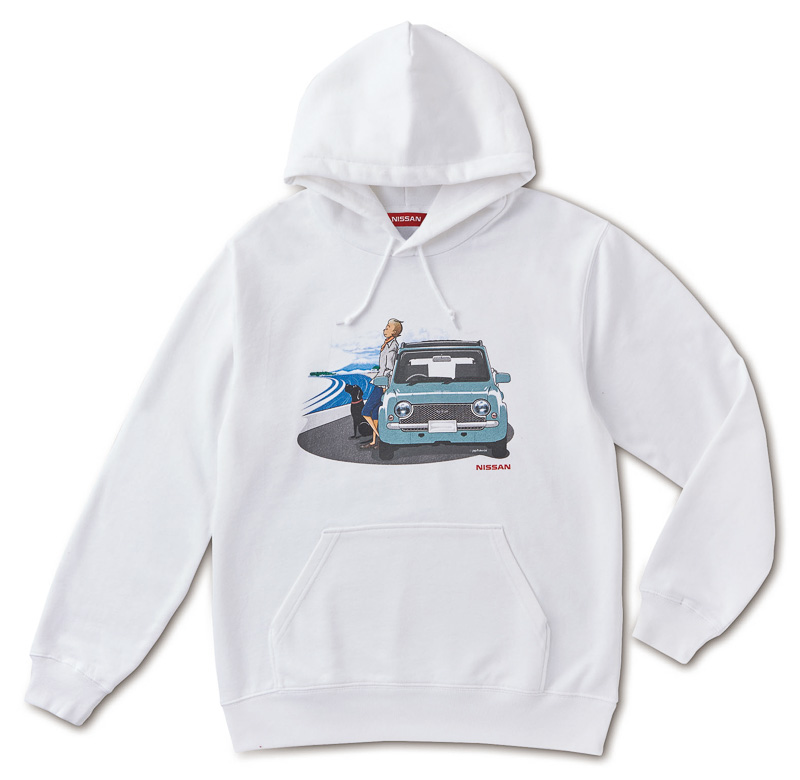 NISSAN HERITAGE/PAO スウェットパーカー(大人サイズ:6300円、子どもサイズ:6100円)