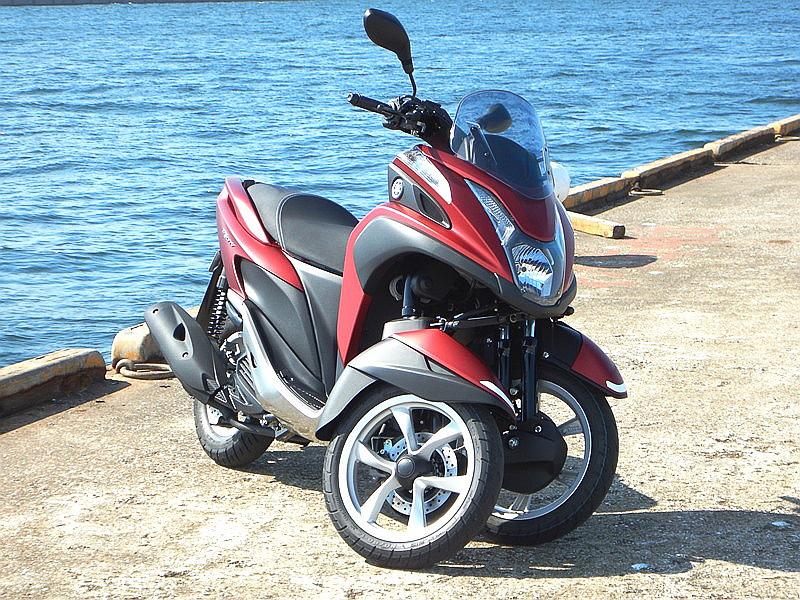ヤマハの3輪バイク「トリシティ」(撮影/西村直人:NAC)