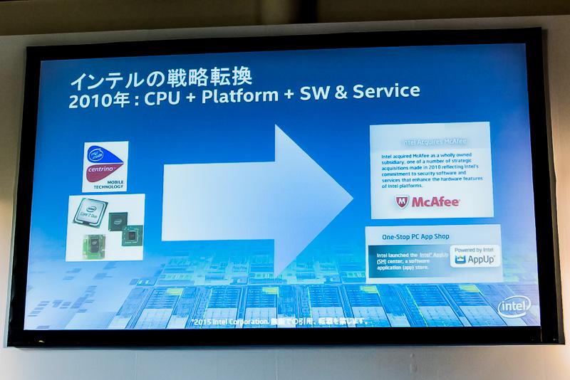 現在のIntelは半導体だけでなく、その上で動くソフトウェアやサービスをセットにして提供している