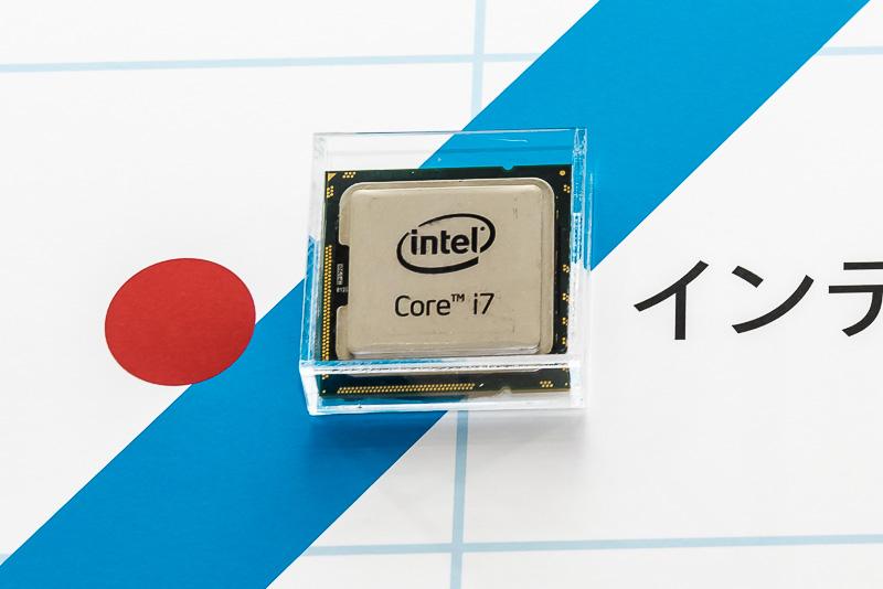 現在のIntelの主力製品であるCore i7プロセッサ。最初の世代は2008年に発表され、現在の製品は第5世代となっている