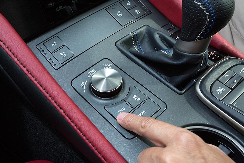 TVDは「スタンダード」「スラローム」「サーキット」の3種類のモードを設定