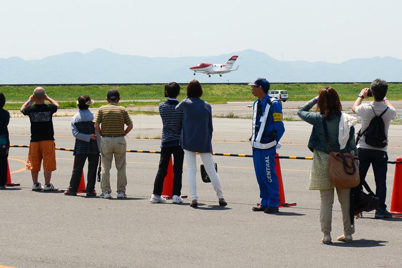3度目のローパスは地上スレスレといって差し支えないほどの低空を飛行