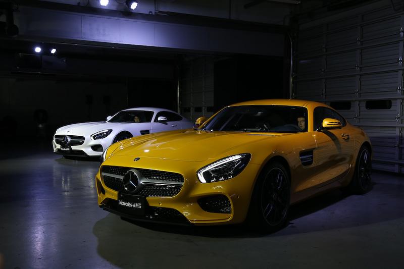 発表会会場で公開されたメルセデスAMG GT