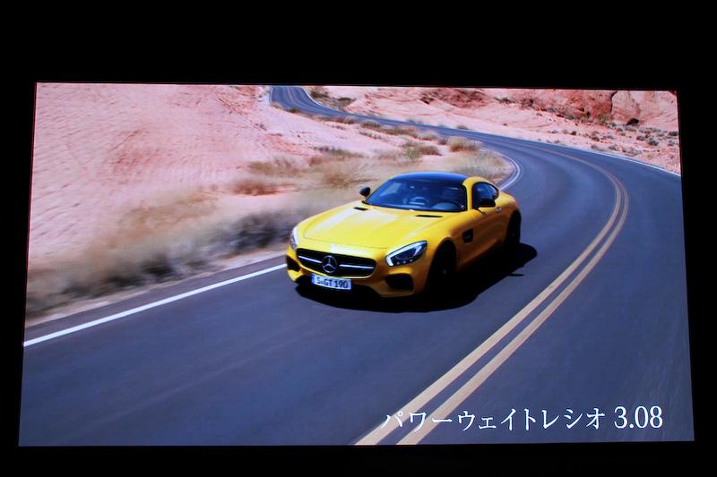 AMG GT Sのパワーウェイトレシオは3.08
