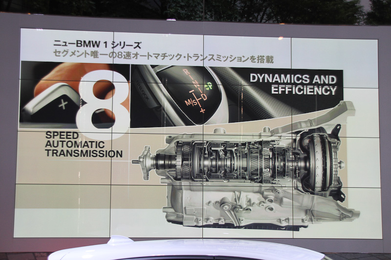 トランスミッションにはセグメントで唯一となる8速ATを搭載