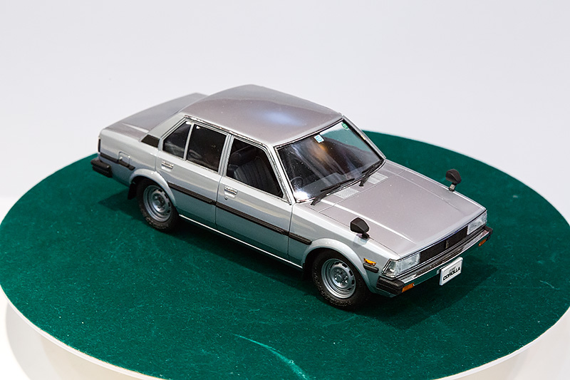 1/24「E70カローラセダン後期型DX」。6月発売予定、2000円(税別)