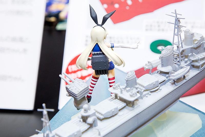 艦娘 島風。連装砲ちゃんもモデル化。艦娘 島風の魚雷発射管と1/350 島風の魚雷発射管は同じ部品