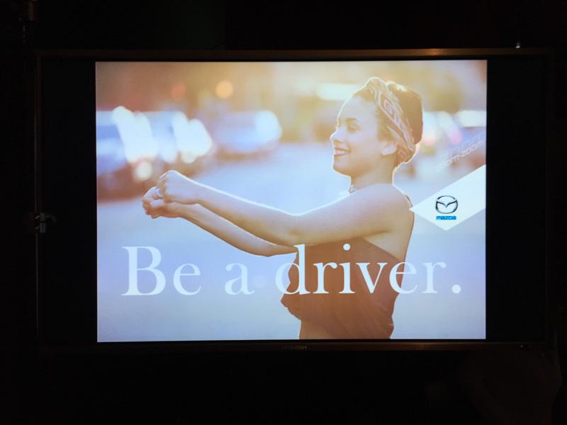 Be a driver.のポーズで記念撮影ができるコーナーなども
