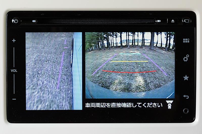 全方位モニターは車両周囲をひと目で確認できる便利な装備