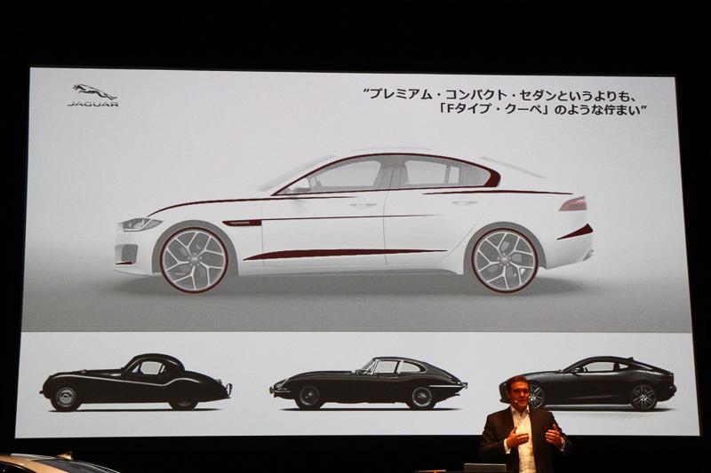 デザインの重要性はプロポーションにあるといい、Fタイプにも似たロングノーズが採用されている