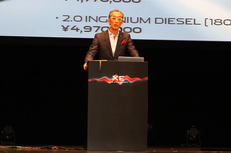 ジャガーランドローバー・ジャパンのマーケティング・広報部ディレクターの若林敬市氏からは、日本市場での展開やブランドアンバサダーの錦織圭選手と試乗体験ができるバーチャルドライブの説明があった