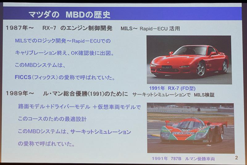 過去の名車の開発にもMBD(Model Based Development)が活用されていた