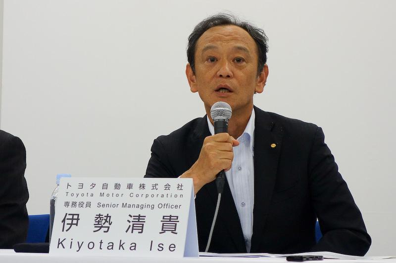 トヨタ自動車 専務役員の伊勢清貴氏