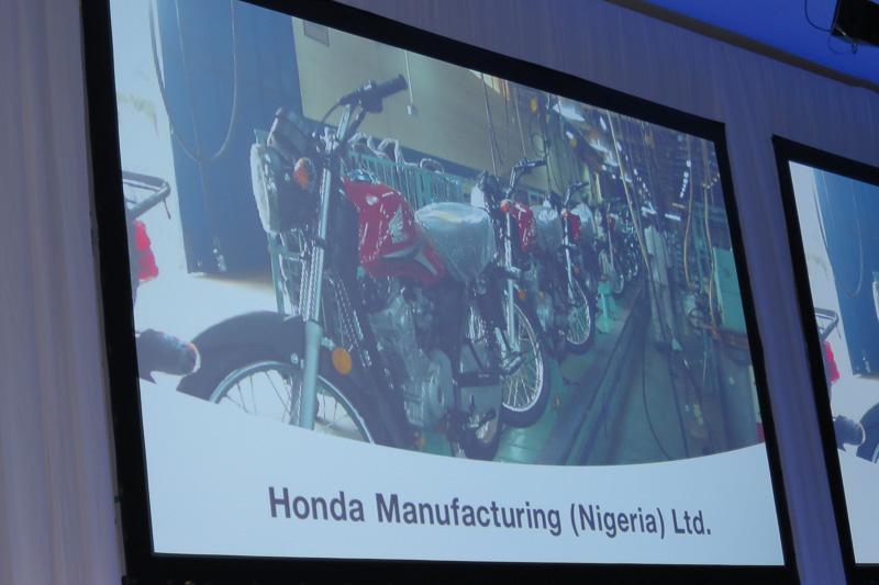 ナイジェリアにある2輪工場の一角に、この6月から4輪車の組み立てエリアを設定。タイから部品供給を受けるセミノックダウン方式でアコードの生産を開始。ホンダとして初めてアフリカで4輪車を生産することになる