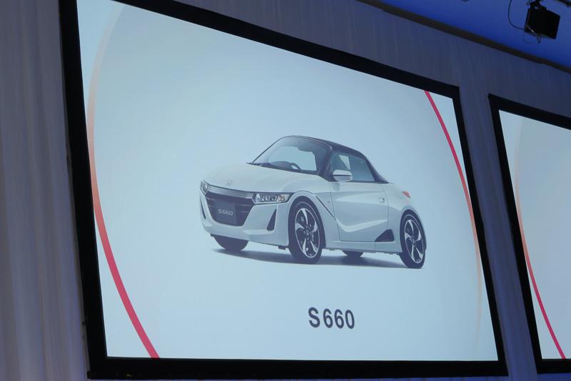 「Hondaらしい商品」の例として、「S660」「HondaJet」を紹介