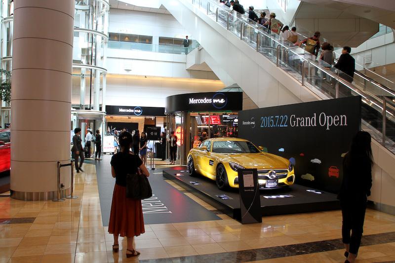 メルセデス ミー 東京羽田は羽田空港の第2旅客ターミナル マーケットプレイス地下1階にある