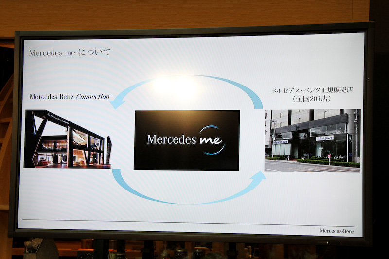 メルセデス ミー 東京羽田は、メルセデス・ベンツ コネクションと全国209店舗ある正規販売店のハイブリッドという位置づけ