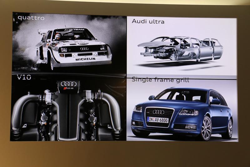 A6は、アウディの新しいデザインや最新技術などの取り組みを市販化する最初のモデルになっているとのこと