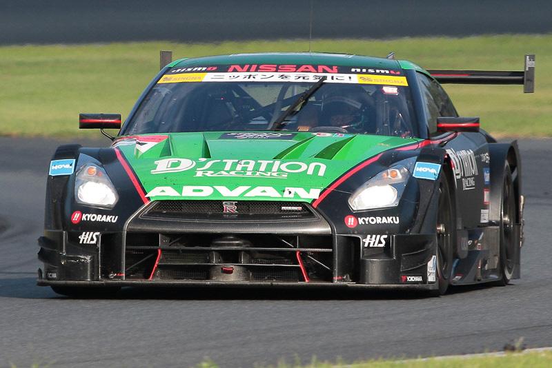 GT500で優勝した24号車 D'station ADVAN GT-R(佐々木大樹/ミハエル・クルム組)。ヨコハマタイヤ装着車が真夏の富士を制した