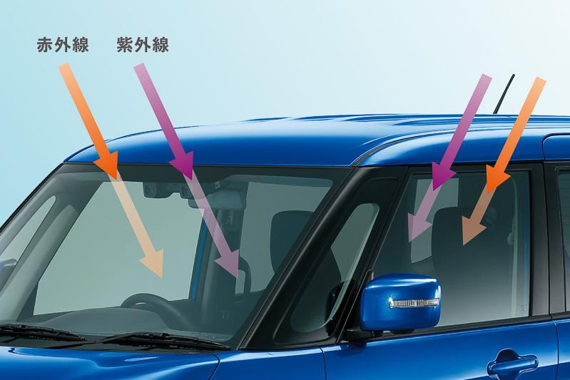 ソリオ ハイブリッド MZ、ソリオ バンディット ハイブリッド MVは「プレミアムUV&IRカットガラス」を標準装備