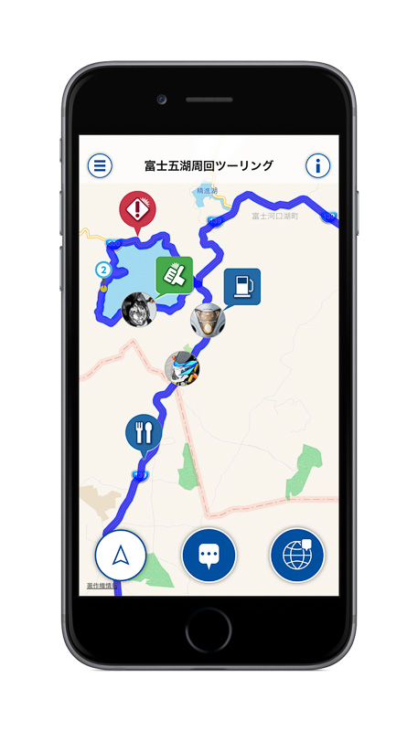 iPhone用無料アプリケーション「ツーリングメッセンジャー」