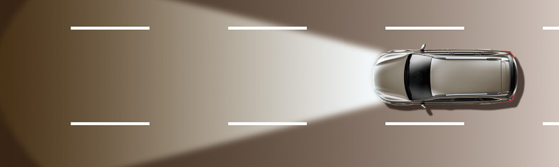「ハイビームアシスト」の作動イメージ