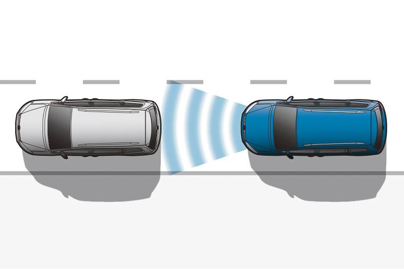 トレンドライン以外に標準装備する「アダプティブクルーズコントロール」(全車速追従機能付き)