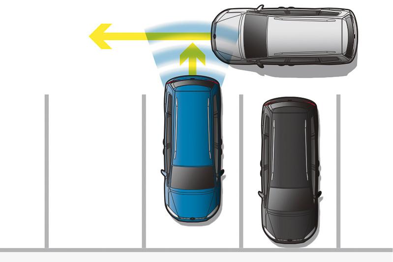 「リヤトラフィックアラート(後退時警告・衝突軽減ブレーキ機能)」はハイラインに標準装備、コンフォートラインにオプション設定
