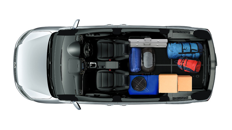 多彩なシートアレンジで車内のスペースを有効活用できる