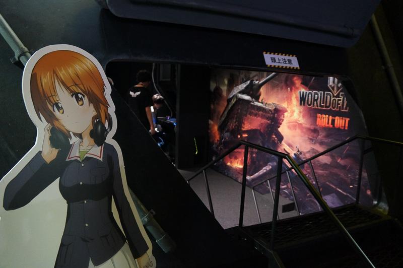 戦車ゲームの「World of Tanks」を展開する「Wargaming Japan」のブース