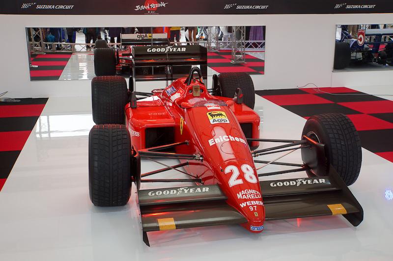 フェラーリF187。1987年にベルガー氏が乗って日本GPで勝った時のマシン