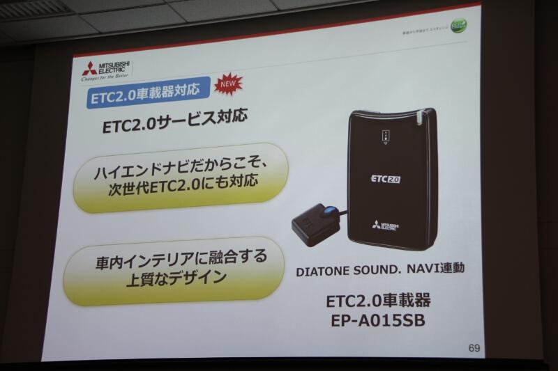 ETC2.0車載器「EP-A015SB」。情報を有効活用するためには対応カーナビと接続して使用する必要がある