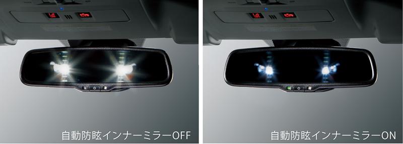 「ハイビームアシスト」には自動防眩インナーミラーもセットオプションとなっている
