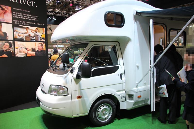 ボンゴをベースに多目的サポートカーとして改造した車両