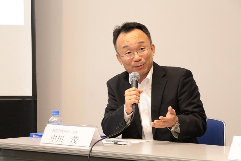 トヨタ自動車 製品企画本部 主査 中川茂氏。「私はこの仕事しかないと思い6年前に福祉車両の企画に戻ってきた」と自己紹介