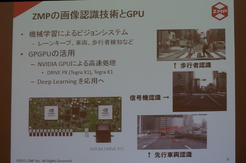 ZMPの画像認識技術とGPU