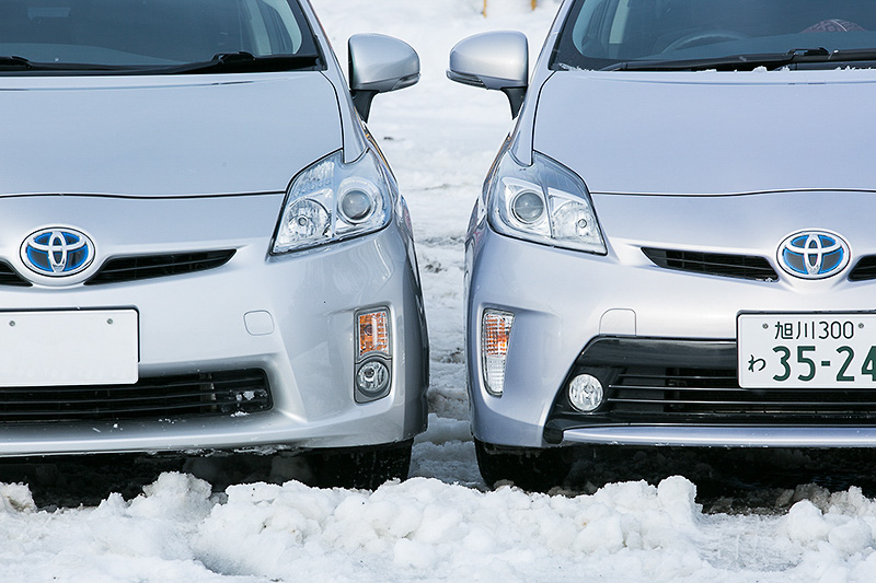 前回撮影した写真より。写真左がMULTI ROAD SASC装着車、右がノーマル。見た目ではあまり違いはわからないレベル