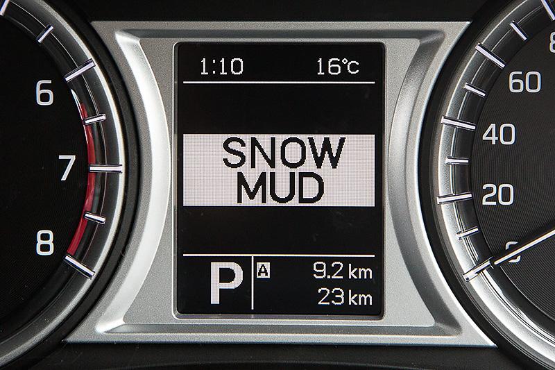 モードはAUTO/SPORT/SNOW MUD/LOCKの4つ