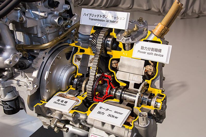 初代プリウスのパワートレーン。エンジンは1.5リッター
