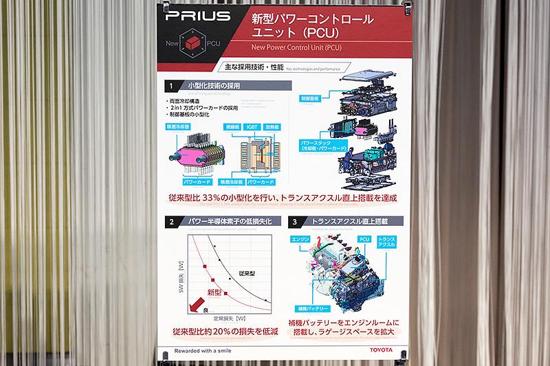 小型化、効率化が図られた4代目プリウスのPCU