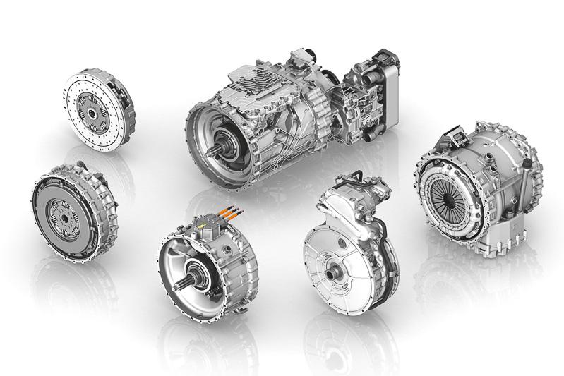 トラックの分野でZFが手がけた、車体の設計や用途ごとに補機類の使い分けが可能となる革新的なモジュール式トランスミッション「TraXon」